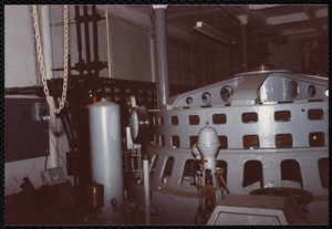 Lower Pacific Mills. Main power room. View of generator
