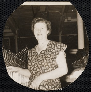 Irene (Furneaux) Moolic employed in Ayer Mill spinning room