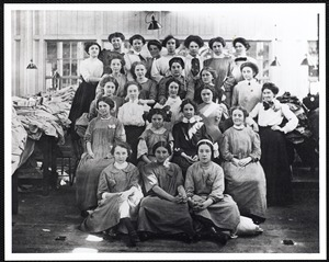 Female employees (group photo) Ayer Mill mending room, c. 1916