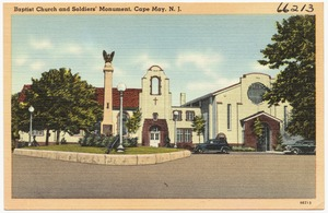 Baptist church and soldier's monument, Cape May, N. J.