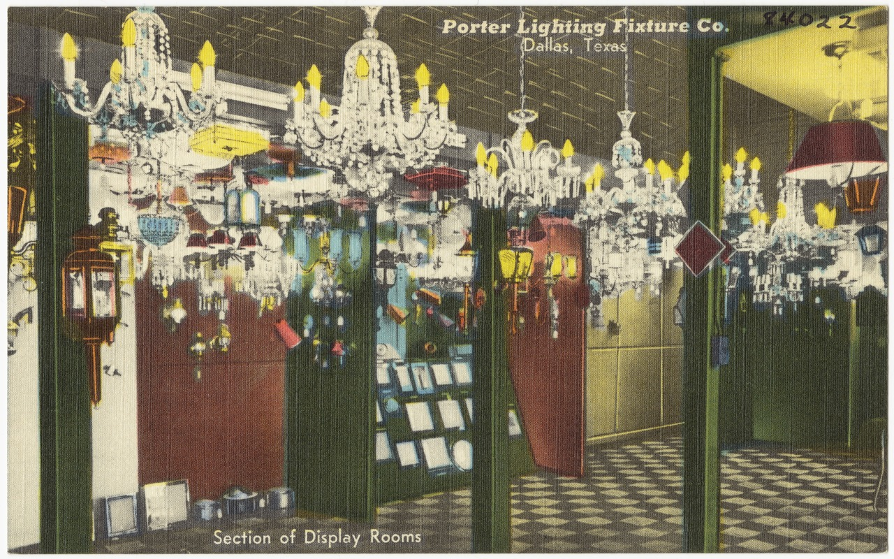 Porter lighting fixture co dallas texas