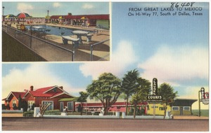 Laurel Lodge Hotel Courts, from Great Lakes to Mexico, on Hi-Way 77, south of Dallas, Texas