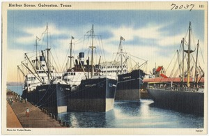 Harbor scene, Galveston, Texas