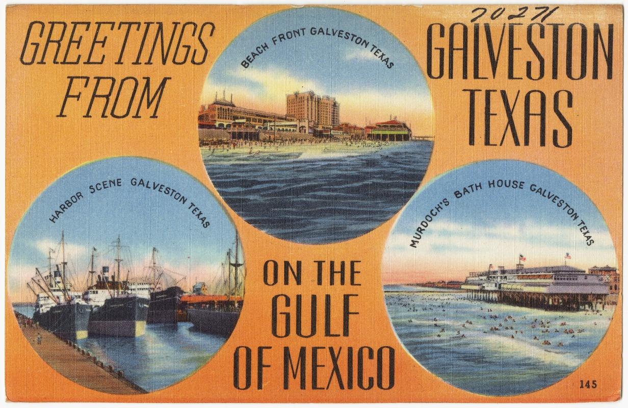 Greetings From Galveston Texas On The Gulf Of Mexico Digital