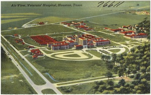 Air view, Veterans' Hospital, Houston, Texas
