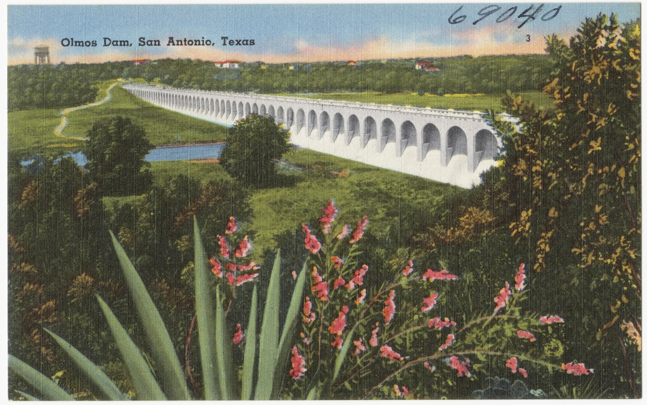 Olmos Dam San Antonio Texas Digital Commonwealth