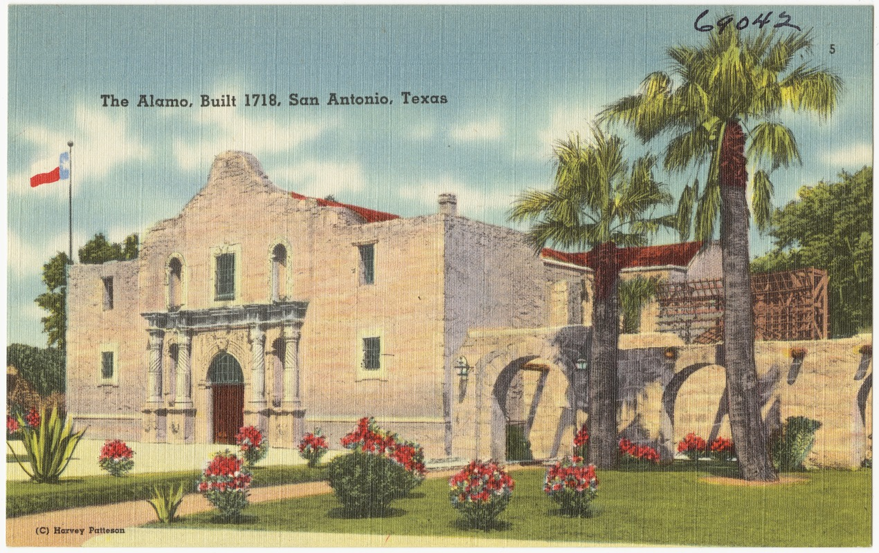 The Alamo, built in 1718, San Antonio, Texas