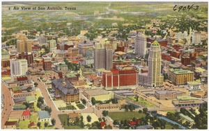 Air view of San Antonio, Texas