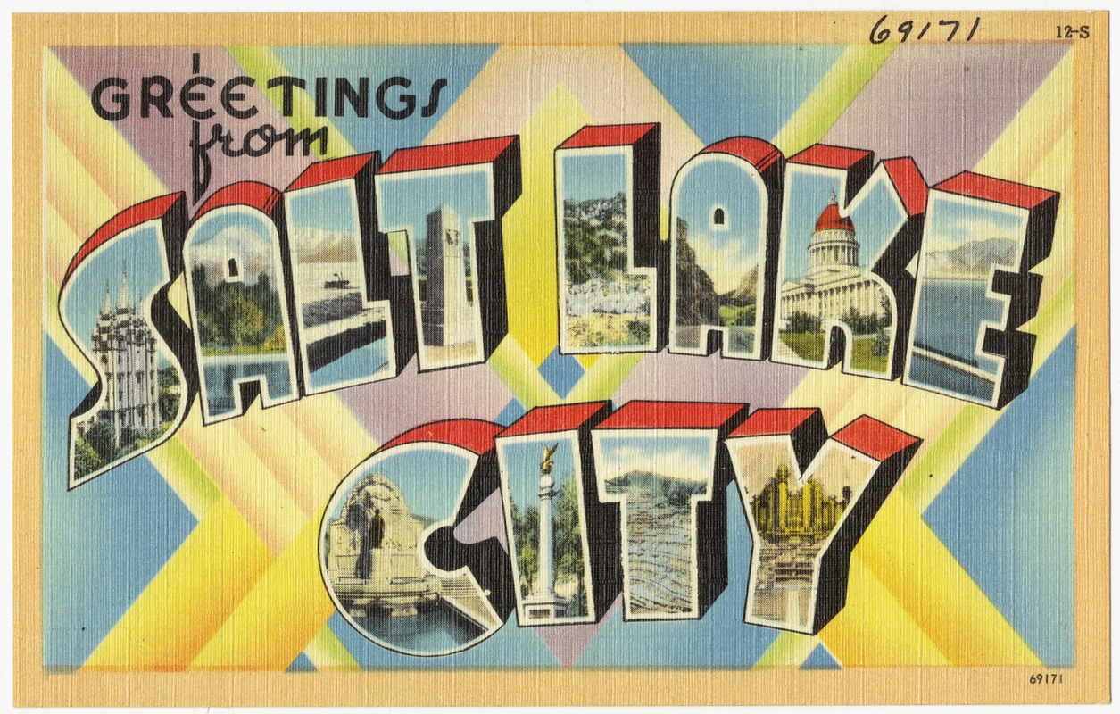 Greetings from salt lake city digital commonwealth greetings from salt lake city kristyandbryce Image collections