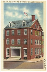 Marshall House as it was in 1861, Alexandria, VA.