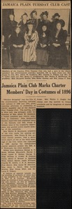 Jamaica Plain club marks charter members' day in costumes of 1896