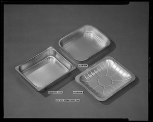 1/2  size steam table pan, aluminum, stainless steel