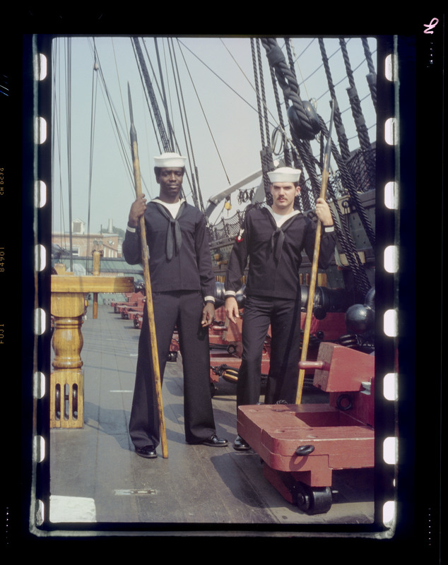 Two sailors on ship
