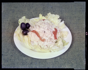 Cottage cheese as on plate