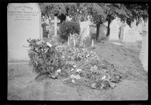 Grave of George AE Russell in Mt. Jerome Cemetery, Dublin, two days after his burial