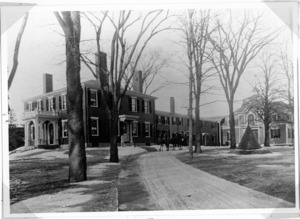 The Elms, Main Street, near present location of Saltonstall Park. Home of Abijah White, father of Maria White Lowell.