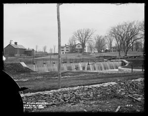 Wachusett Aqueduct, Lower Dam, Open Channel, Section 11, from the south, near east side of Sawin's Mills road, Southborough, Mass., Mar. 16, 1898