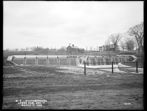 Wachusett Aqueduct, Lower Dam, Open Channel, Section 11, from the southeast, near south end of bridge, Sawin's Mills road; former site of Sawin's Dam and mill pond, Southborough, Mass., Mar. 16, 1898