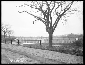 Wachusett Aqueduct, Lower Dam, Open Channel, Section 11, from the northeast, near west side of Sawin's Mills road, Southborough, Mass., Mar. 16, 1898