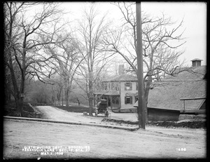 Distribution Department, Southern High Service Pipe Line, Section 19, Reservoir Lane, station 27, Margaret W. Reed's house on the north side of lane, from the south in Boylston Street, Brookline, Mass., May 2, 1898