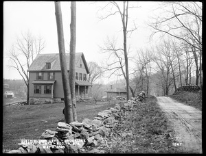 Distribution Department, Southern High Service Pipe Line, Section 19, Reservoir Lane, station 3, Michael McGrady's house, from the northwest, Brookline, Mass., May 2, 1898