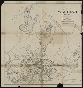 Map of Waltham Mass.