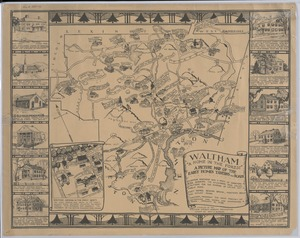 Waltham A Home in the Forest A Picture Map of the Early Homes, Towns and Roads