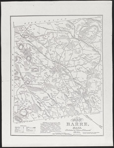 Map of Barre, Mass.