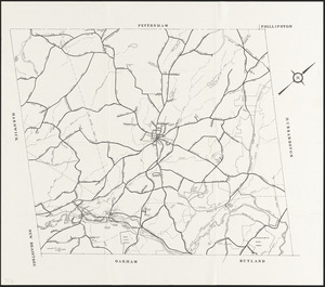Outline of all main roads in Barre